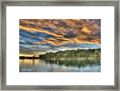 Fingers Of Flame.  Sunset Framed Print by Geoff Childs