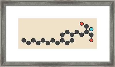 Fingolimod Drug Molecule Framed Print by Molekuul