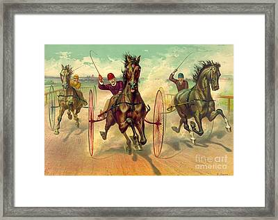 Finish Line 1890 Framed Print by Padre Art