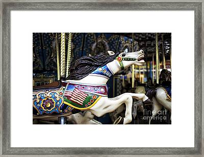 Finish Line At Seaside Heights Framed Print by John Rizzuto