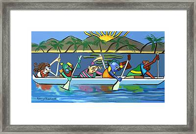Finishing The Race Framed Print by Anthony Falbo