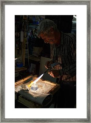 Framed Print featuring the photograph Finishing Touches  by Paul Indigo