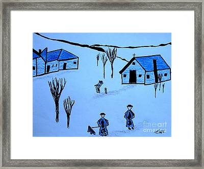Framed Print featuring the drawing Finland by Bill OConnor