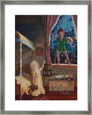 Finn Meets Peter Framed Print by Matt Konar