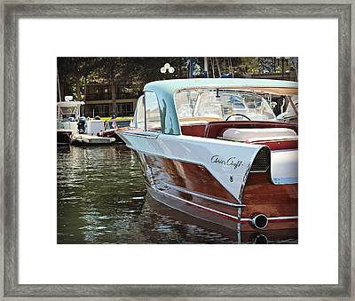 Finned Chris Craft Framed Print