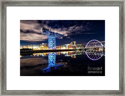 Finnieston Crane Blue Framed Print by John Farnan