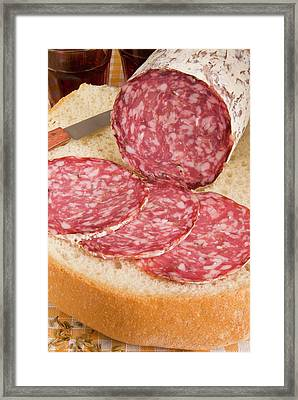 Finocchiona, Tuscan Salami With Fennel Framed Print by Nico Tondini