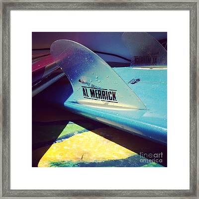 Fins  Framed Print by M West