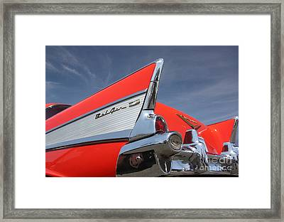 Fintastic '57 Chevy Framed Print