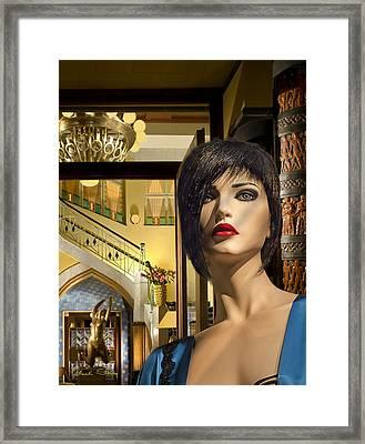 Fiona Arrives In Prague Framed Print