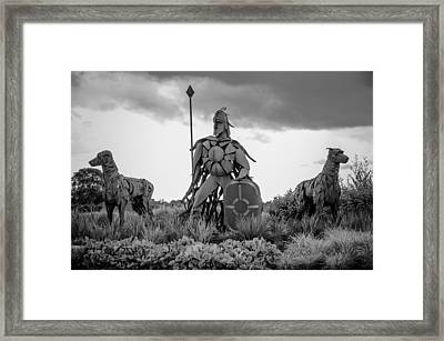 Fionn Mac Cumhaill And His Hounds Framed Print