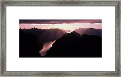 Fiordland National Park New Zealand Framed Print by Panoramic Images