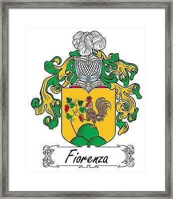 Fiorenza Coat Of Arms Italian Framed Print by Heraldry