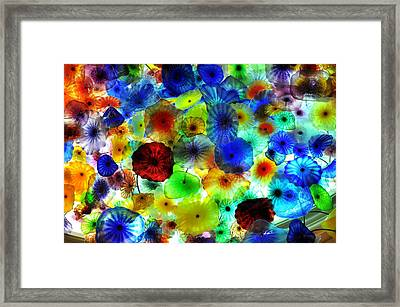 Fiori Di Como By Glass Sculptor Framed Print by Gandz Photography