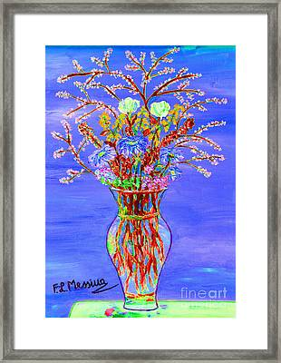 Framed Print featuring the painting Fiori by Loredana Messina