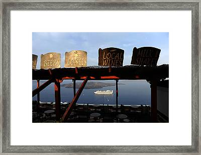 Fira Santorini Greece Framed Print