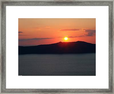 Firastefani Sunset Framed Print