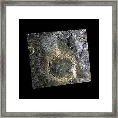 Firdousi Crater Framed Print by Nasa/johns Hopkins University Applied Physics Laboratory/carnegie Institution Of Washington