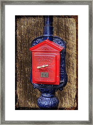 Fire Alarm Framed Print