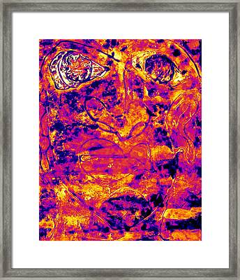 Fire And Eyes Framed Print by Cleaster Cotton