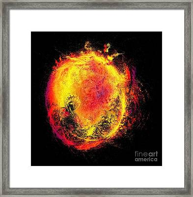 Fire And Heat Of The Sun Framed Print