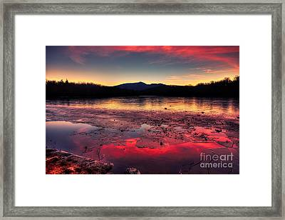 Fire And Ice At Price Framed Print