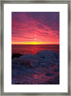 Fire And Ice Framed Print by Benjamin Williamson