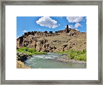 Fire And Ice Cathedral Holy City Framed Print by Janice Rae Pariza