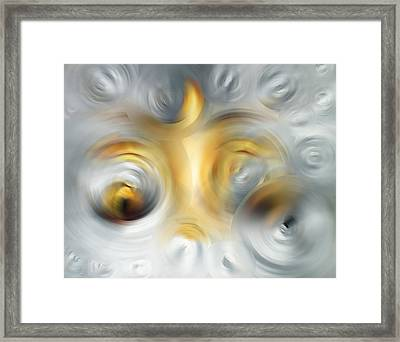 Fire And Ice - Energy Art By Sharon Cummings Framed Print