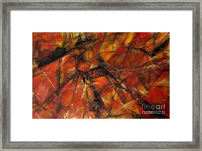 Fire And Ice Framed Print by Grace Liberator