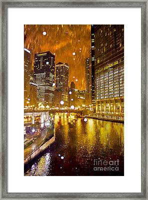 Fire And Ice Framed Print by Jeanette Brown