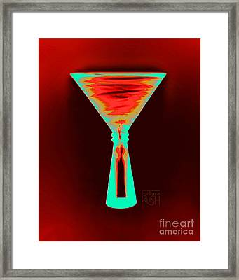 Fire And Ice Martini Framed Print