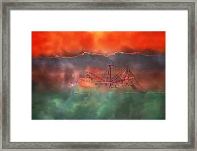 Fire And Ice Misty Morning Framed Print by Betsy Knapp