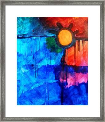 Fire And Ice Framed Print by Nancy Merkle