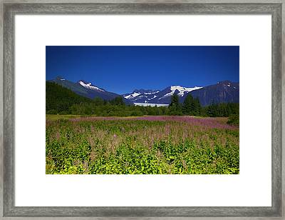 Fire And Ice Of Mendenhall Glacier Framed Print
