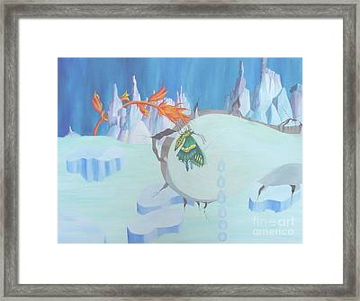 Fire And Ice Framed Print by Richard Dotson