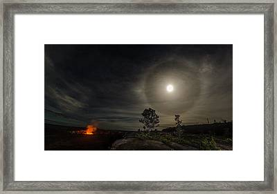 Fire And Ice Framed Print by Sean King