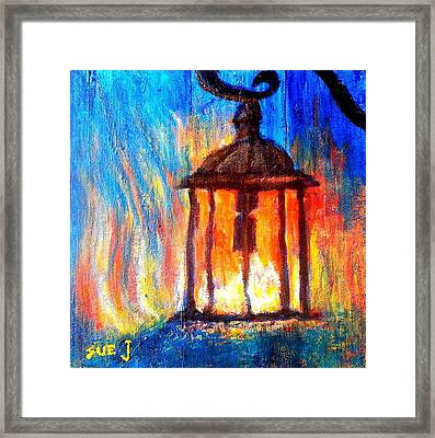Fire And Ice Framed Print by Sue Jacobi