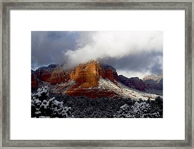 Framed Print featuring the photograph Fire And Ice by Tom Kelly
