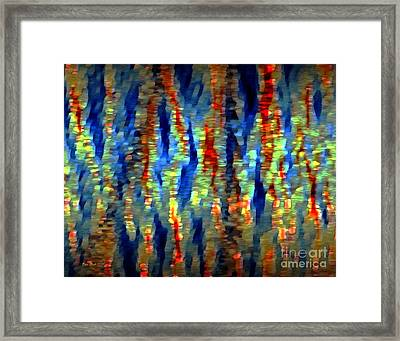 Fire And Rain Framed Print