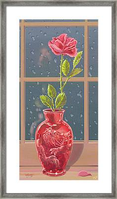 Framed Print featuring the mixed media Fire And Rain by J L Meadows