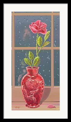 Rose Window Framed Prints