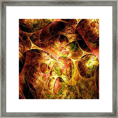 Fire And Shadow Framed Print