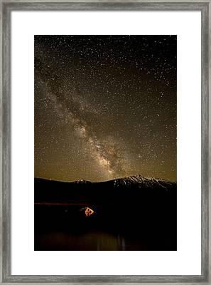 Fire And Sky Framed Print