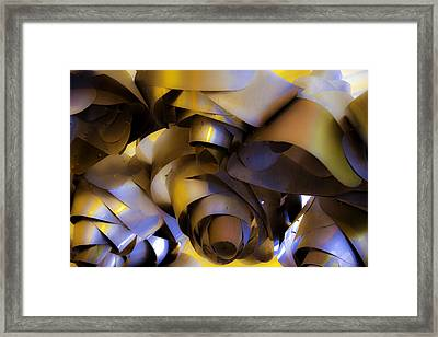 Fire And Steel Framed Print by Raymond Kunst