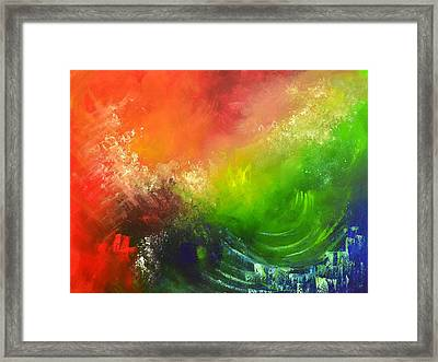 Fire And Water Framed Print by Christopher Vidal