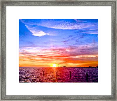 Fire And Water Framed Print by Dee Dee  Whittle