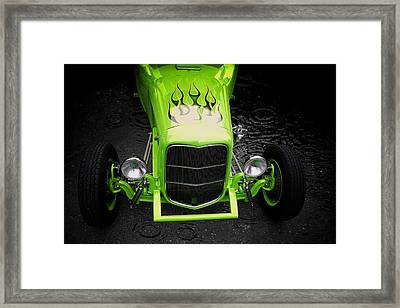 Framed Print featuring the photograph Fire And Water Green Version by Aaron Berg