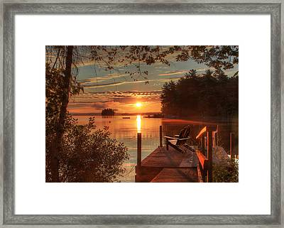Fire And Water Framed Print by Lori Deiter