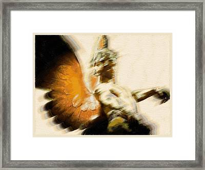 Fire Angel Framed Print by Tony Rubino